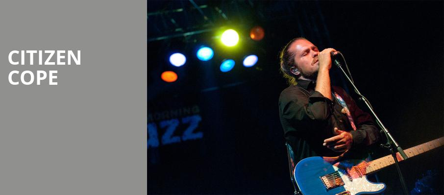 Citizen Cope, Georgia Theatre, Athens